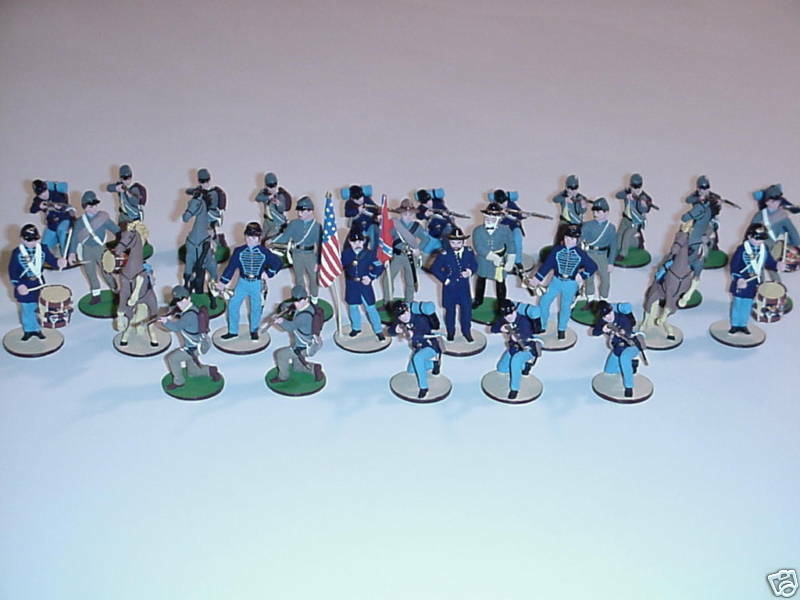Russian fatto He Painted  Pewter Civil War Chess Set  comprare sconti