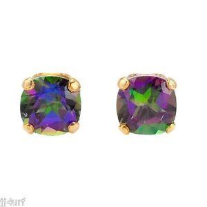 Green Fire Mystic Topaz Earrings 1