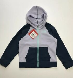 5669ac803 Details about THE NORTH FACE Toddler Girls Glacier Full Zip Fleece Hoodie  Jacket 2T 4T Purple