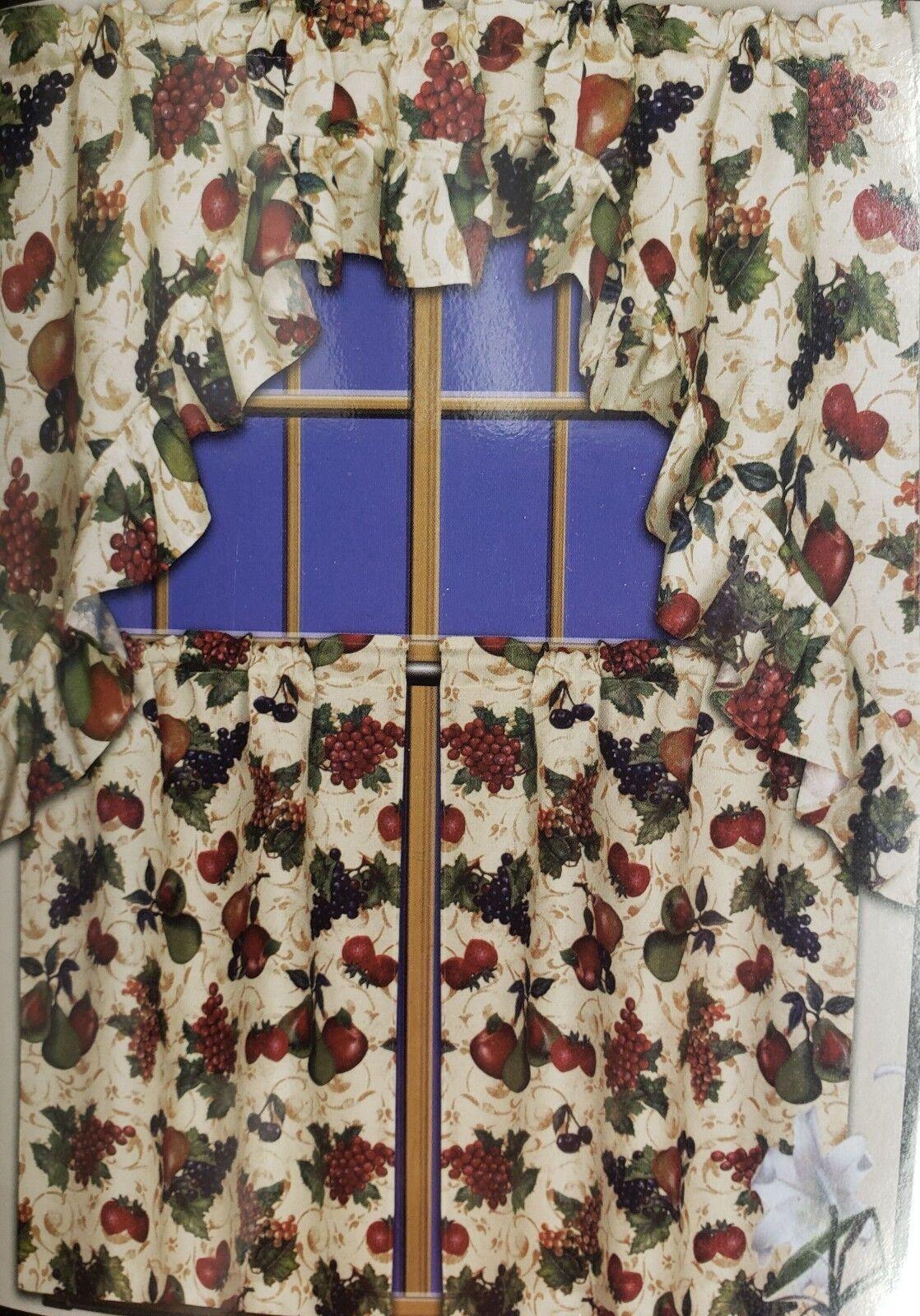 Kitchen Curtains Beige Swag Valance
