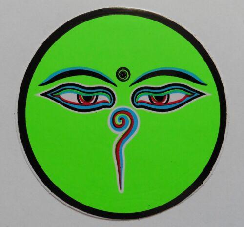 Buddhist Hindu Round Sticker Buddha Eyes 6.3cm Single Sided Various Colours