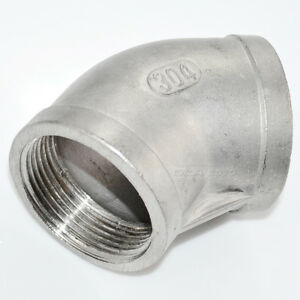 SS304-45-Degree-Elbow-1-1-4-034-1-25-034-Female-Fitting-304-Stainless-Steel-Pipe-NPT