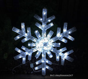 image is loading giant white snowflake holiday christmas light show motion