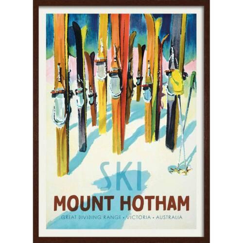 Ski Mount Hotham Print Vintage Australian Advertising 5 Sizes /& Framing