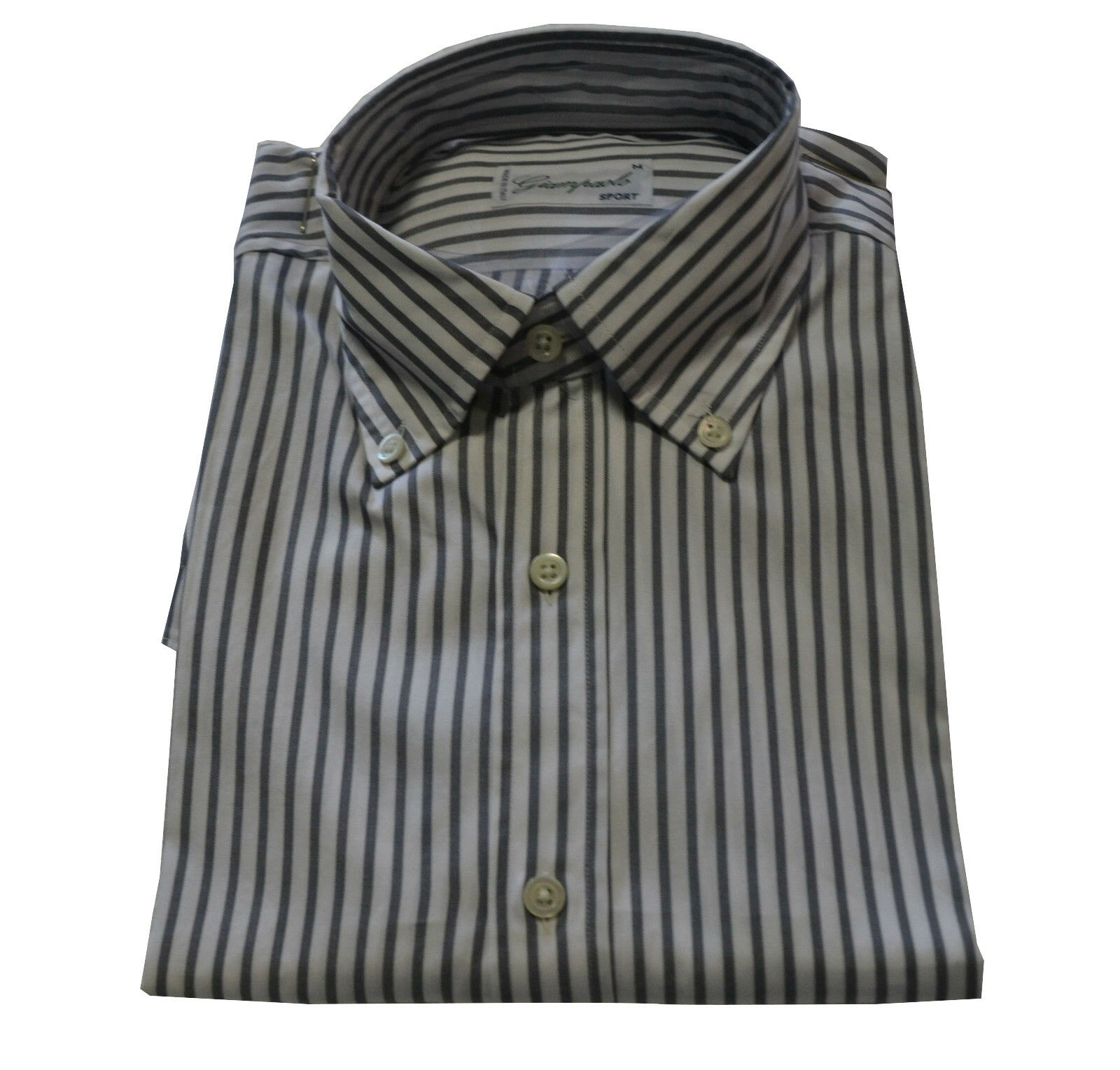GIAMPAOLO SPORT men's shirts striped regular fit 100%cotton Made in