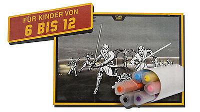 XXL Ausmalposter Star Wars Jumbomarker Malset Riesenposter Jedi Ritter Skywalker