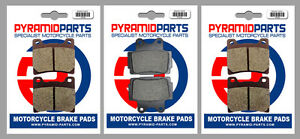Front & Rear Brake Pads (3 Pairs) for Yamaha FZ 600 S, SC 1986