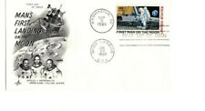 U.S. Scott C76 FDC Air Mail 10 cent First Man On The Moon cachet 1969