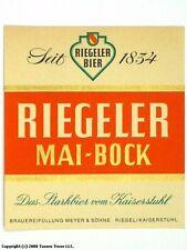 1960s Germany Reigeler Mai-Bock Bier Beer Label Tavern Trove