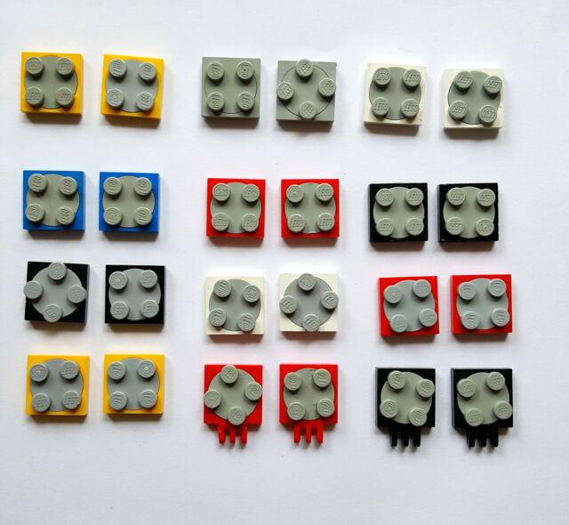 LEGO 15 x Platten Drehteller 2x2 blau althellgrau blue oldgrey 3680 3679