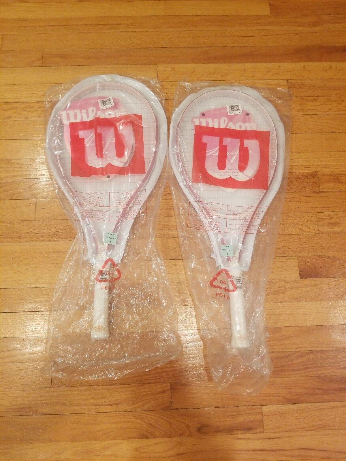 New Wilson Hope Pink 113 sq.in. Tennis Racquet 4 1 8  Grip L1 -Lot of 2
