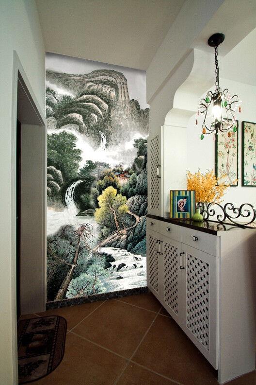 3D Mountain Scape 89 Wallpaper Mural Wall Print Wall Wallpaper Murals US Carly