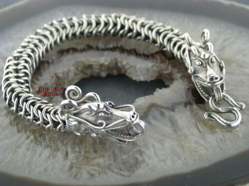 DRACHENARMBAND Silberarmband Silber 925 und Edelstahl 316L Drachen Dragon