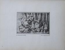 1912 Max Klinger DIE DARWINSCHE THEORIE alter Druck old print