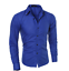 Blouse-Men-039-s-Slim-Fit-Shirt-Long-Sleeve-Formal-Dress-Shirts-Casual-Shirts-Tops thumbnail 1