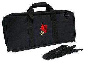Shun-20-Pocket-Slot-Knife-Storage-Roll-Bag-Luggage-Black
