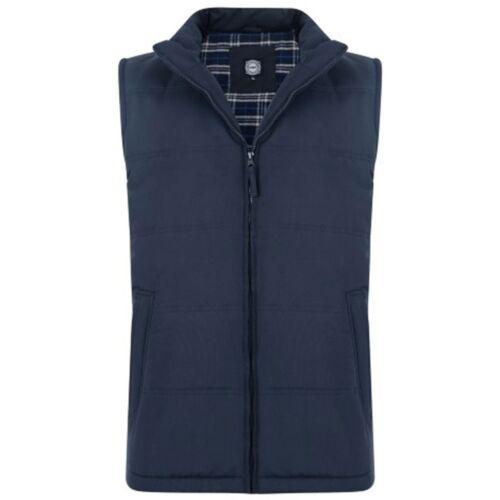 New kam Mens Big /& Tall Waistcoat Biker PADDED Lined Zip Bodywarmer Gilet Jacket