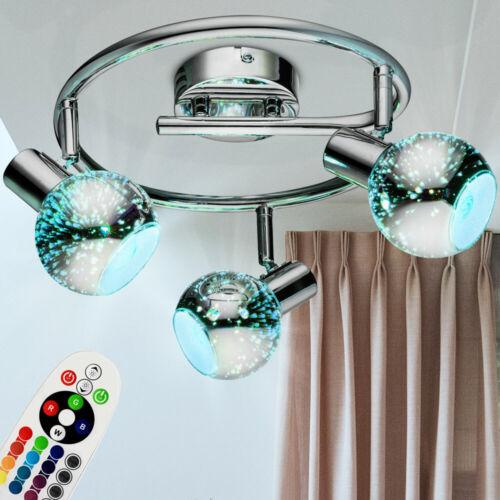 RGB LED Decken Leuchte Glas Spot Rondell Dielen Lampe verstellbar FERNBEDIENUNG
