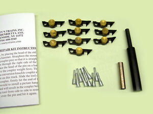 American-Flyer-Brass-Weight-Link-Coupler-Repair-Kit-w-Couplers-Pins-amp-Tools