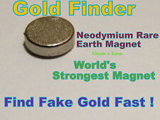 Neodymium Rare Earth Magnet for Testing Scrap Gold,Silver & Coins -10mm x 2.0mm