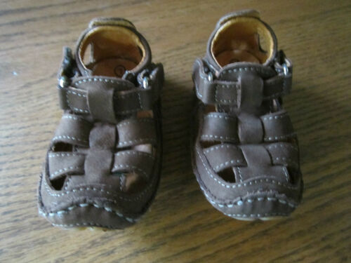 Stride Rite Baby Boy Prewalker Skip Brown Shoe Sandal