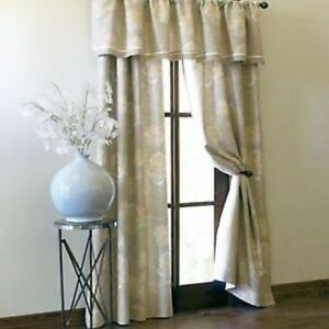 Cindy Crawford Ombre Floral Rod Pocket Lined Curtain