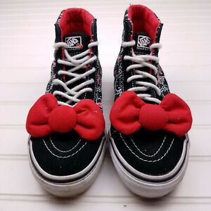 Vans-Hello-Kitty-Black-Red-w-bow-Hi-Top-Sneaker-Tennis-Shoes-Women-039-s-6-men-039-s-4-5