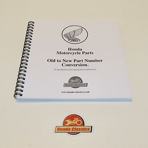 Honda Motorcycle Part Number Old To New Cross Reference Book Reproduction Hpl021 Ebay