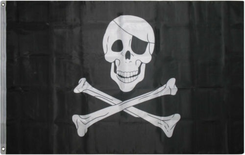 3x5 Jolly Roger Patch 200D Nylon Pirate Flag Indoor//Outdoor