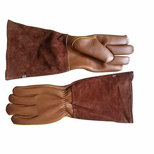 Goatskin Leather Thorn Proof Puncture Resistant Bramble Gloves Long Length Arm