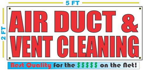 AIR DUCT /& VENT CLEANING Banner Sign NEW Larger Size Best Quality for the $$$