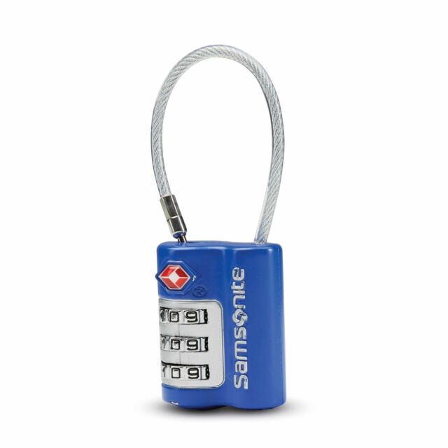 Eagle Creek Suitcase Padlock and Cable 3-Digit Combination Code TSA-Approved
