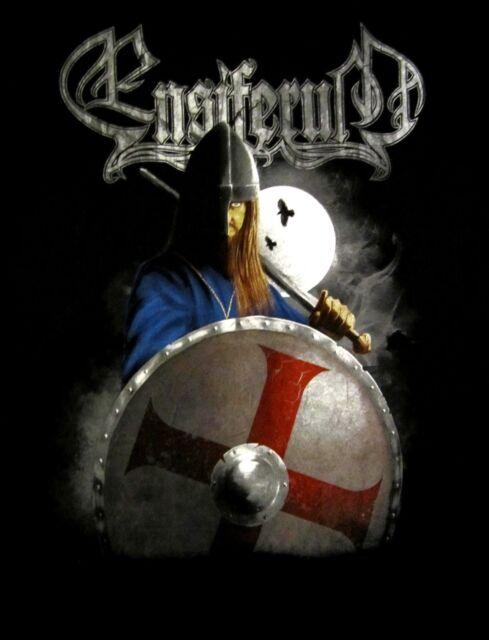ENSIFERUM cd lgo VIKING WITH SHIELD Official SHIRT SMALL New oop