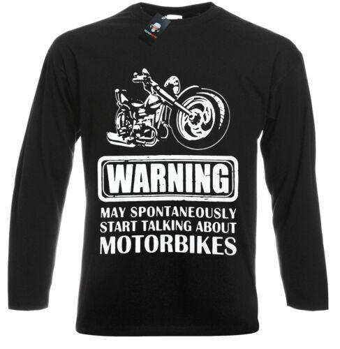 Punk//Metal//drôle//blagues//Celtic//TRIBAL//Skull//Biker//Halloween//à Manches Longues T Shirt