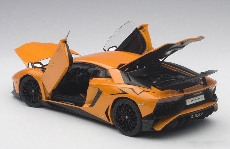 gran venta Autoart Lamborghini Aventador LP750-4 Sv Sv Sv Naranja 2015 1 18 Escala en Stock  genuina alta calidad