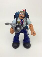 Fisher Price Rescue Heroes Toy Action Figure Police Officer w/ Radio Tool