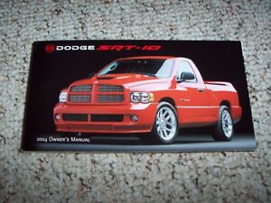 2004 Dodge Viper SRT-10 Owners Manual User Guide