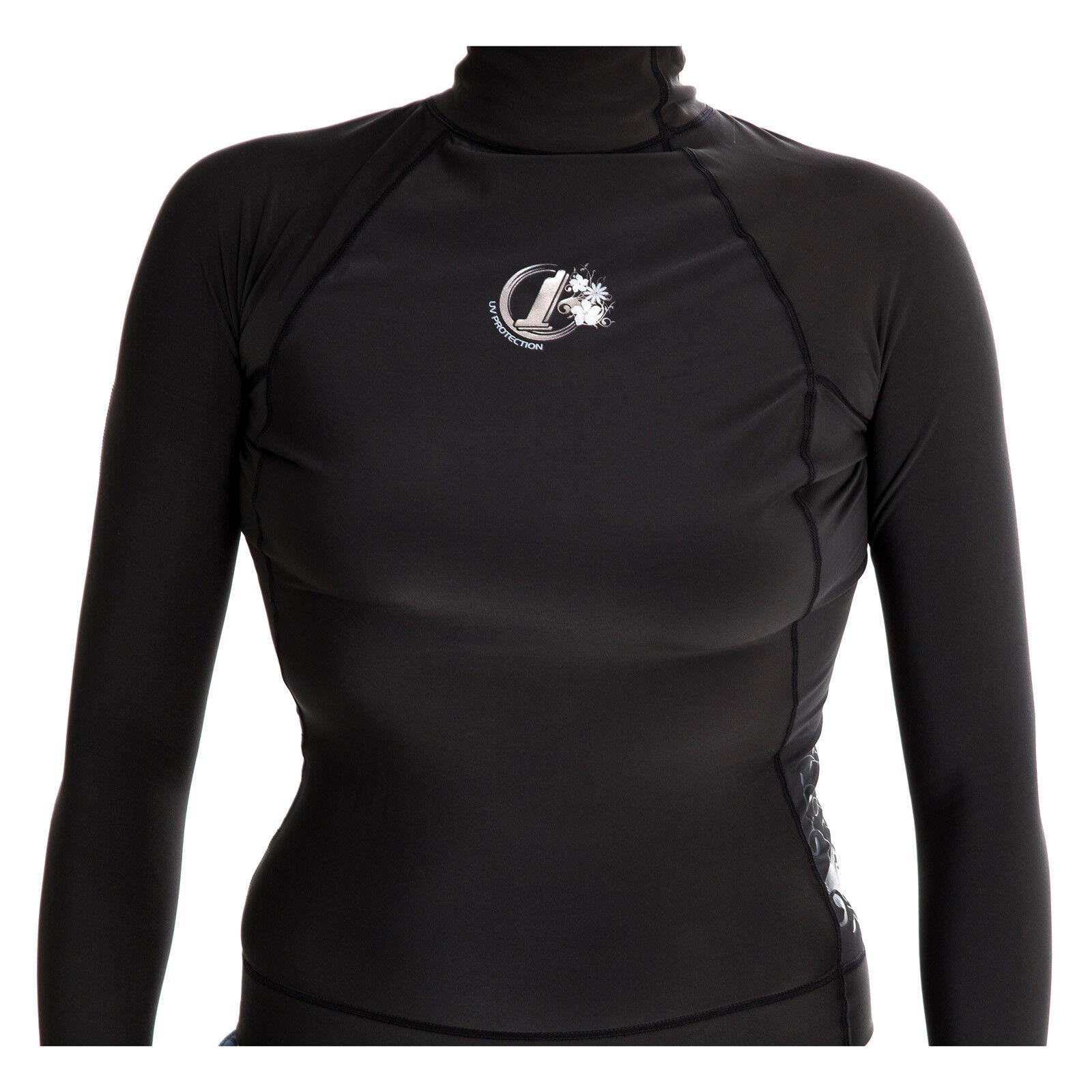 Womens Polypro Thermal Long Sleeve Rash Vest
