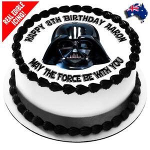 Tortenfiguren Star Wars Darth Vader Cake Topper Edible Round