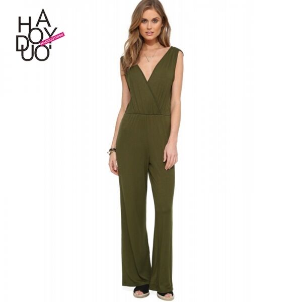 Suit full suit woman summer military green comfortable light trousers 3357