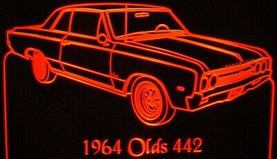 """1964 Chevy Van Edge Lit Lighted Sign 12/"""" LED Plaque 64 Mirr Made in USA"""