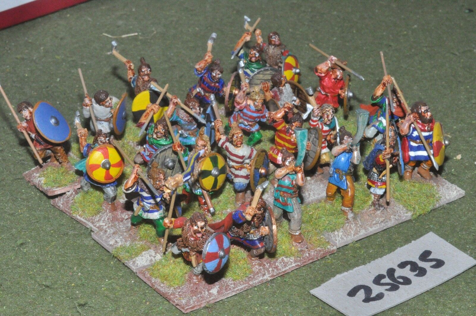 25mm roman era   franks - warriors 24 figures - inf (25635)