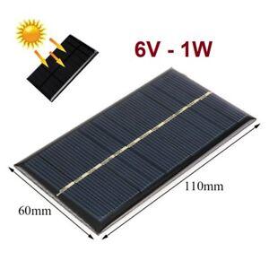 Bien Informé Placa Panel Solar 6v 1w 166ma - Cargador - Celula Fotovoltaica - 110x60 Mm êTre Nouveau Dans La Conception