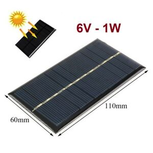Agressif Placa Panel Solar 6v 1w 166ma - Cargador - Celula Fotovoltaica - 110x60 Mm Cadeau IdéAl Pour Toutes Les Occasions