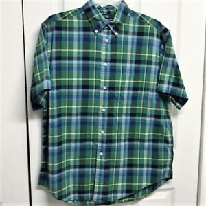 Roundtree-amp-Yorke-Men-s-Plaid-Shirt-Size-L