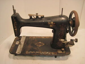 P1 vintage cast iron popliar treddle sewing machine table - Cast iron sewing machine table ...