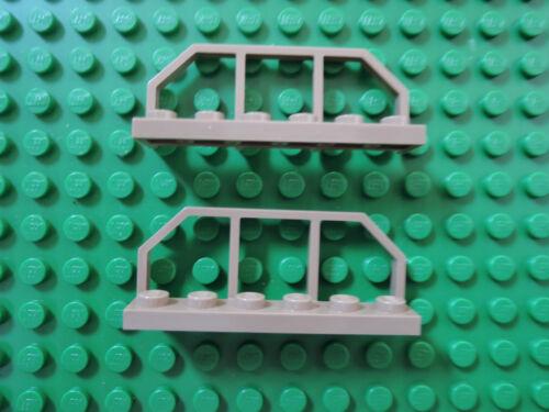 Lego 2 x Eisenbahn Geländer 6583 dunkel beige dark tan  1x6    75174 9496
