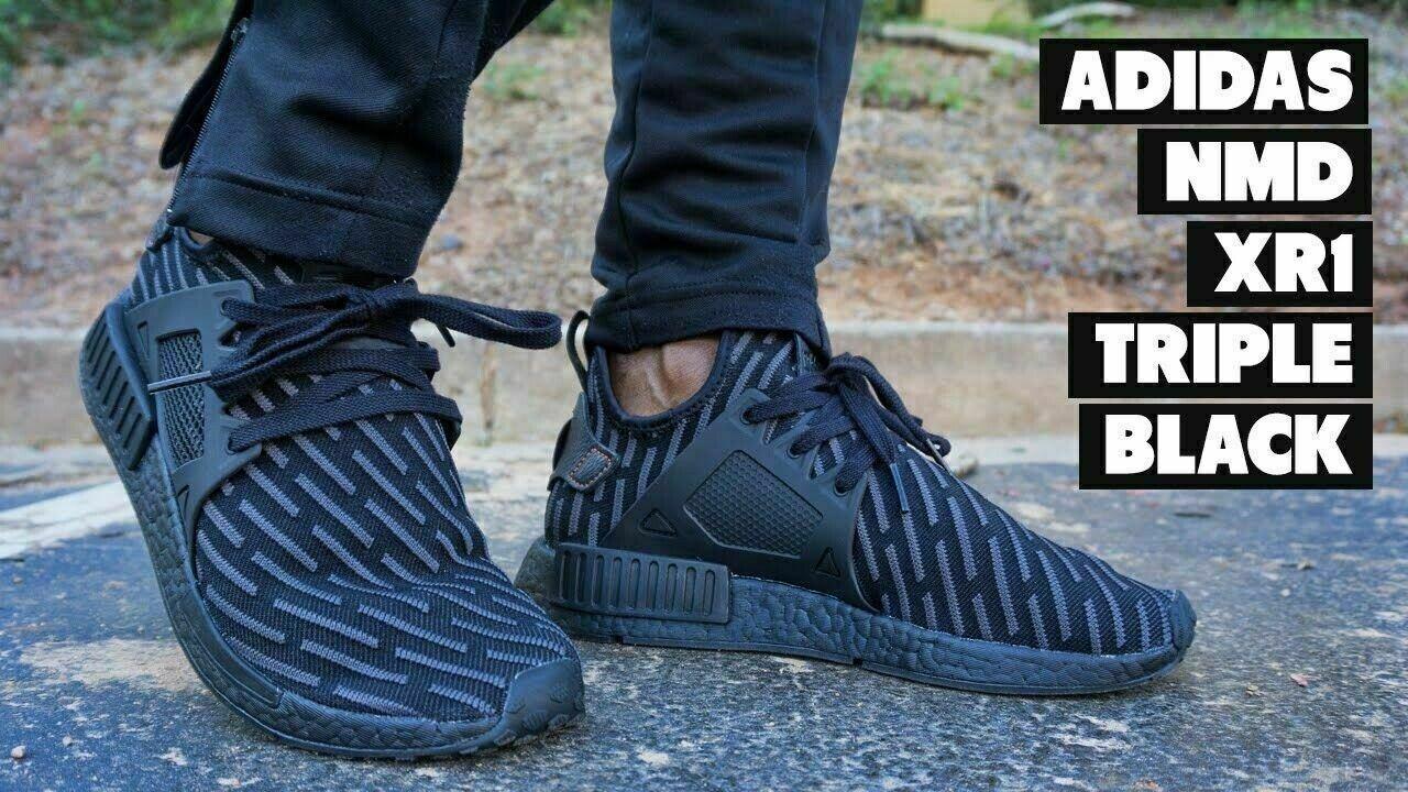 Size 8 - adidas NMD XR1 Primeknit Triple Black 2017