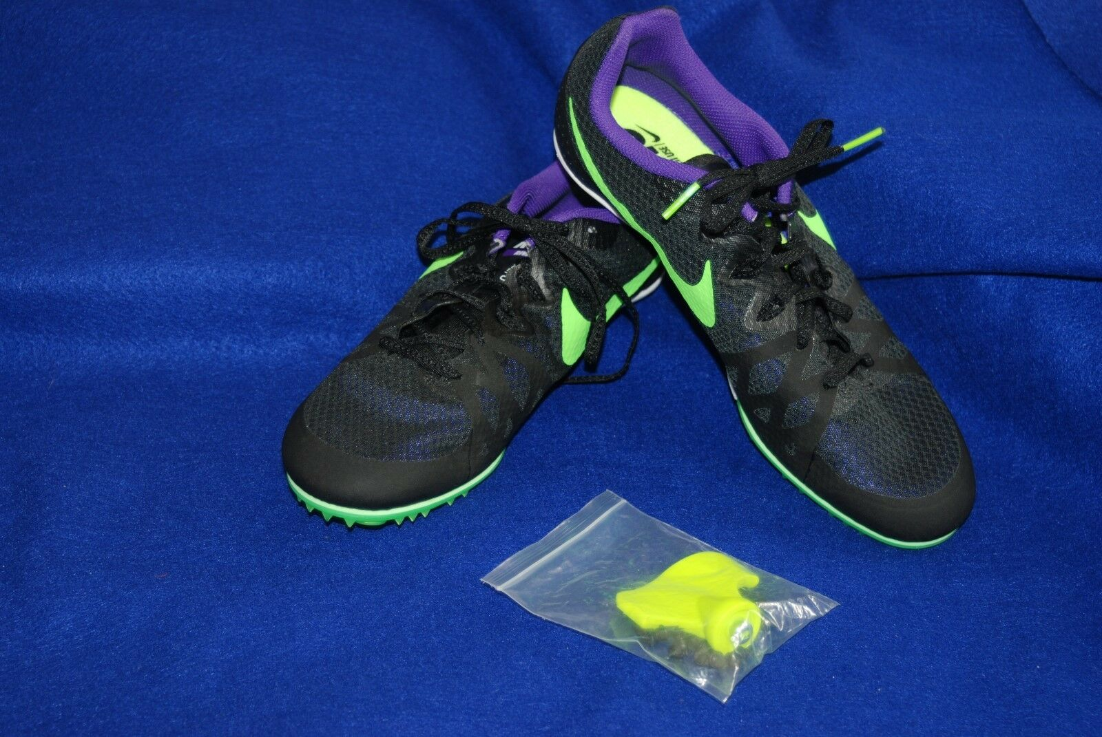 Nike Zoom Rival M 8 Men's Track Spikes 806555-035  Black Green Purple Comfortable