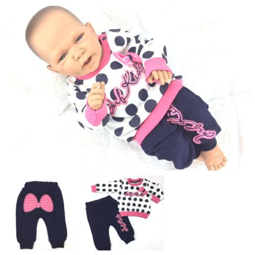 Babyset Starterset Set Mädchen 2-teilig süß Rosa Pink 68 80 86 Baumwolle Neu